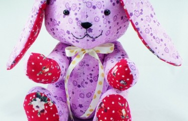 Custom handmade bunny plush design