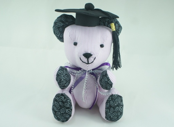 Mortar board for graduation plush toy