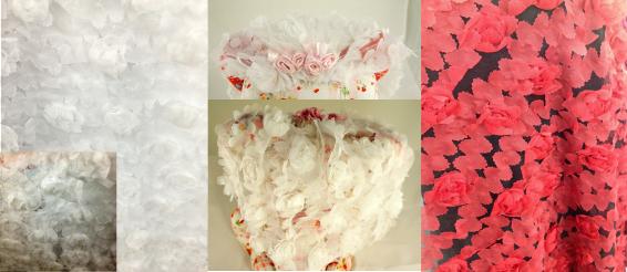 flowery fabric veil