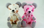 BeeHum handmade custom plush wedding couple teddy bear