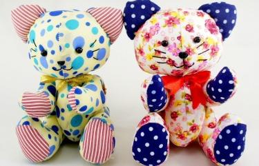 BeeHum handmade plush toy kitty cat design