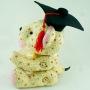 Beehum handmade teddy bear plush toy with mortarboard