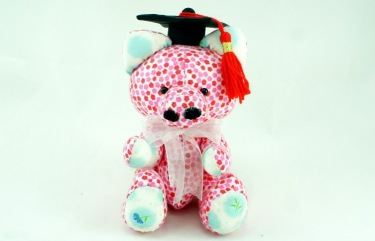 BeeHum graduation piggy with mortarboard