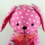 beehum handmade bunny plush toy soft toy with Christmas message