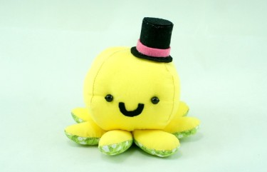 Yellow Octopus plush toy soft toy
