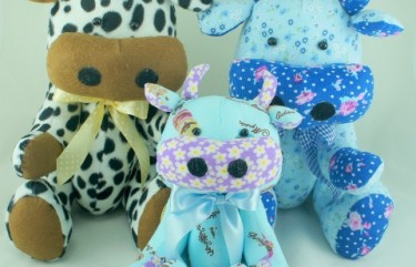 Moo Moo Cow BeeHum design soft toy plush toy