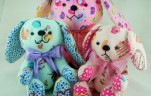 BeeHum bunny and dog plush toy