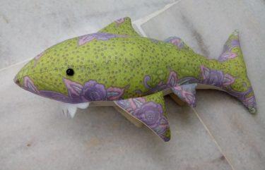 Batik shark plush toy