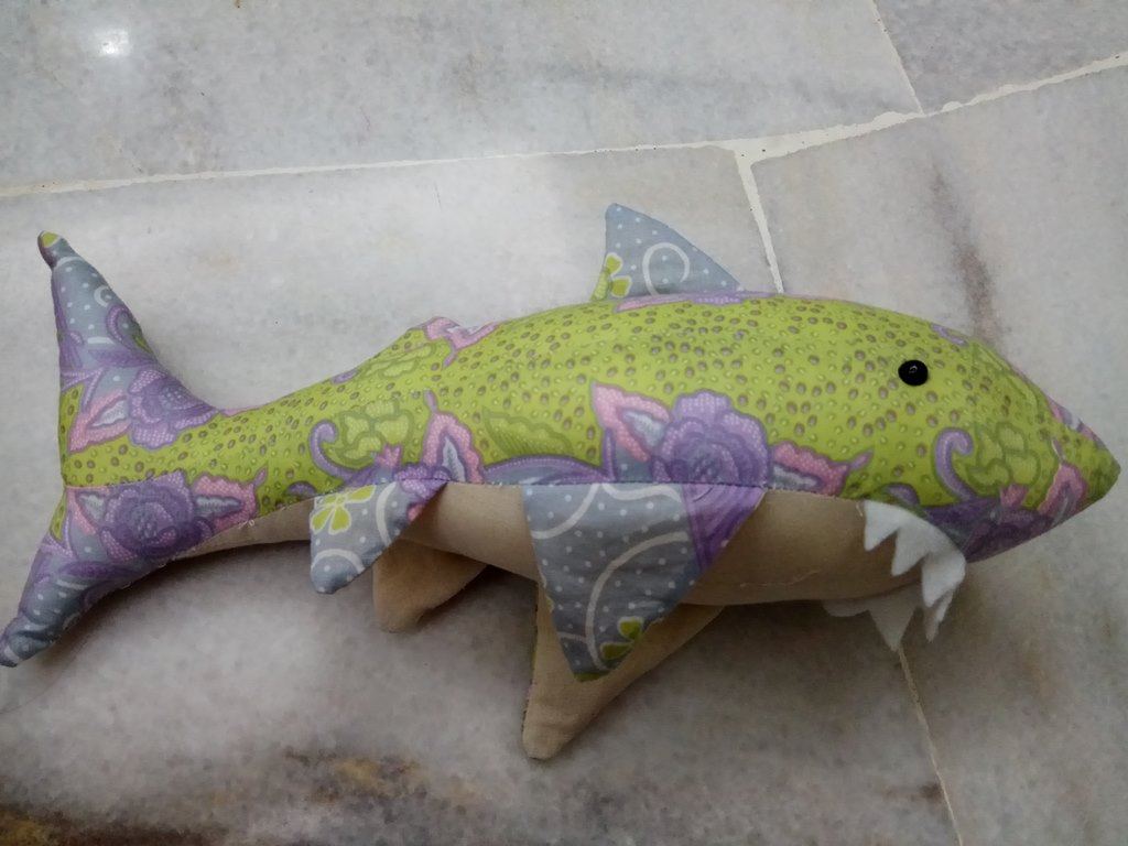 batik shark plush toy