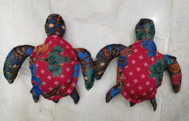 Batik turtle plush toy, soft toy, plush toy