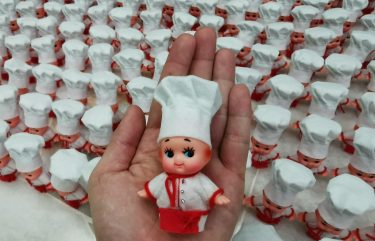 kewpie doll chef attire